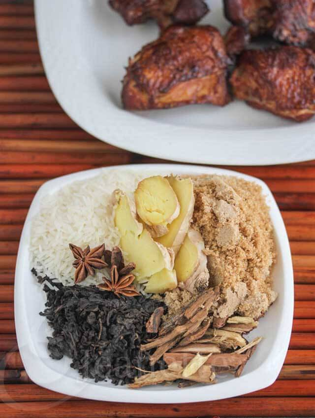 INGREDIENTES DE POLLO AHUMADO CON TÉ