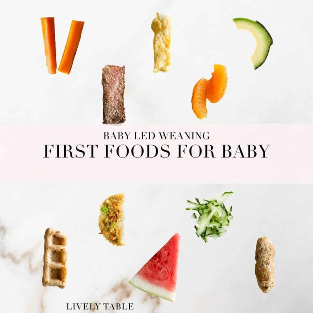BLW FIRST FOODS 1 PRIMEROS ALIMENTOS DEL BEBÉ PARA EL DESTETE DIRIGIDO POR EL BEBÉ