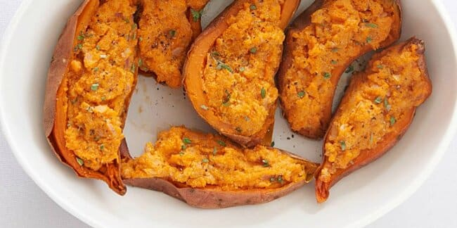 3512316 TWICE BAKED SWEET POTATOES WITH RICOTTA CHEESE PHOTO BY ALLRECIPES 11 FORMAS DE INTERCAMBIAR BATATAS