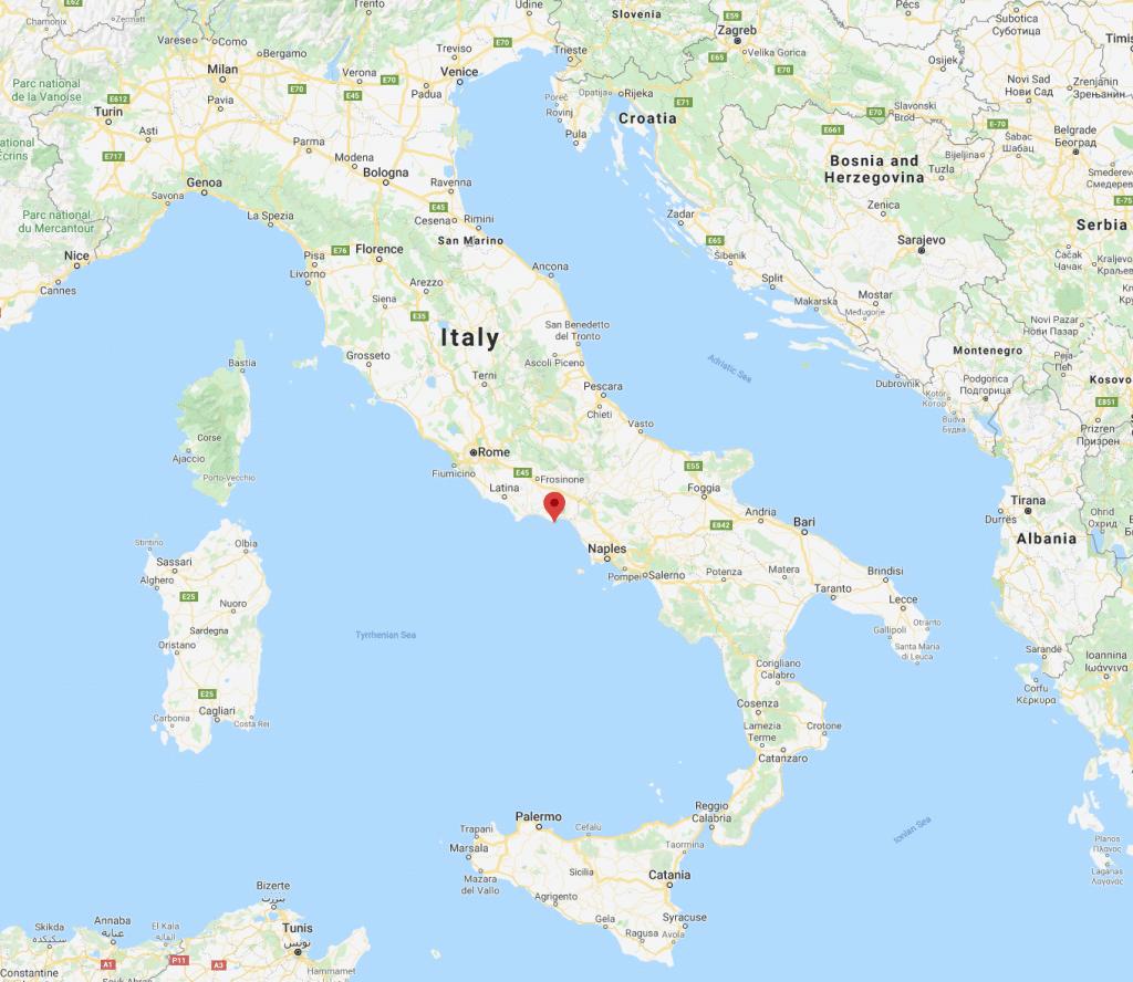 MAPA DE ITALIA MOSTRANDO GAETA